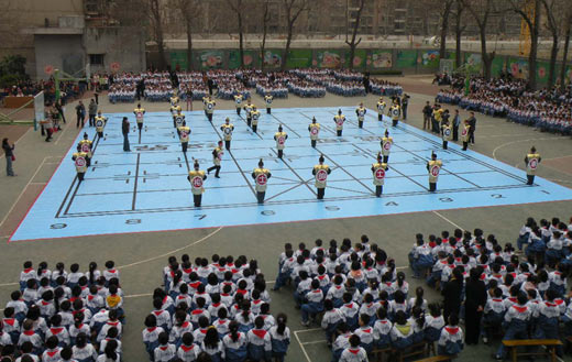 象棋国手校园行活动 精彩的象棋表演