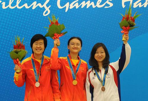 亚运象棋女子个人赛颁奖 三位女将领奖